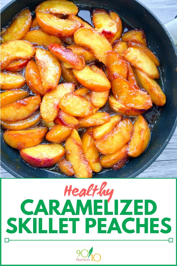 healthy caramelized skillet peaches